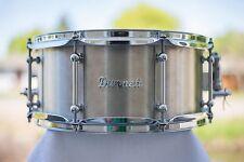 "Dunnett Classic Stainless Steel Snare Drum 6.5x14"""