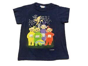 1999 Teletubbies 3T Blue T-Shirt Infant Tinky Winky Po Dipsy Laa Laa Cast