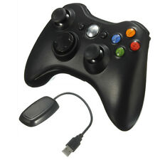 Black Wireless Game Remote Controller+Receiver for Microsoft Xbox 360 Console PC