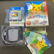N64 Hey You Pikachu w/Microphone Genki de Chu Nintendo 64 VRS Big Box Game Japan