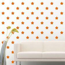 "84 of 4"" Orange Star DIY Decor Removable Peel Stick Wall Vinyl Decal Sticker"