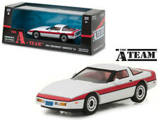 The A-Team TV Show 1984 Chevy Corvette C4 Die-cast Car 1:43 Greenlight 5 inch