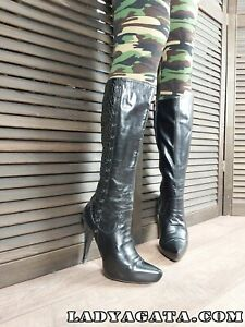 Thigh high High Heel Stiletto Leather Over knee Boots