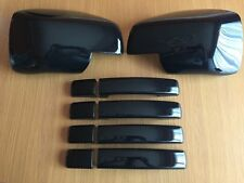 GLOSS BLACK DOOR HANDLE WING COVERS FITS RANGE SPORT DISCOVERY 3 FREELANDER 2