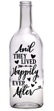 Wine Bottle Vinyl Decal Sticker Happily Ever After Quote Light Home Valentines