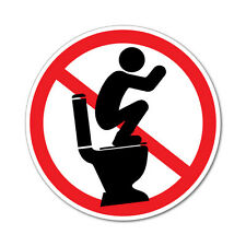 Do Not Stand On Toilet Seat Sticker Decal Safety Sign Car Vinyl #6262EN