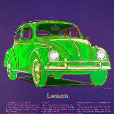 Volkswagon Ads 1985 by Andy Warhol 84cm x 84cm High Quality Canvas Art Print