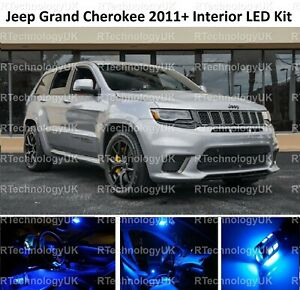 BLUE PREMIUM JEEP GRAND CHEROKEE 2011+ INTERIOR FULL UPGRADE LED LIGHT BULB KIT
