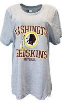 Washington Redskins Women's NFL Team Apparel Grey T-Shirt, Plus Size, nwt