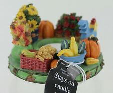 New Old Virginia Candle Co. Capper Topper - Acorns & Leaves - Flowers Pumpkins