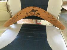 Vintage Australian Boomerang, Mudi Dudi Tribe. signed