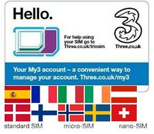 Sim card INTERNET USA, Australia, Austria, France, Italy, Switzerland, Spain