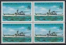 Turks & Caicos 1983 ** Mi.671 A Bl/4 perf.14 Schiffe Ships [sq5832]