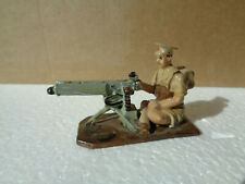 British vickers Machine gun, soldier 54mm glossy professionally painted LEAD, td