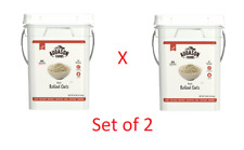 Set of 2 Augason Farms Quick Rolled Oats Emergency Food Storage 10 Pound Pail