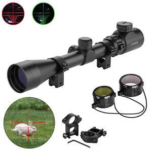 Jagd Zielfernrohr für Luftgewehr Armbrust Rifle Scope + 11mm Montagen 3-9x40EG
