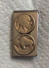 Money Clip Double Buffalo Nickel Indian Head Face