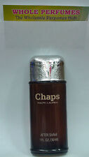 CHAPS AFTERSHAVE BY RALPH LAUREN 1.0 / 1 OZ / 30 ML ITEM AS PICTURED