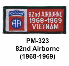 "3""  82ND AIRBORNE (1968-1969) Embroidered Military Patch"