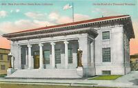 DB Postcard CA D450 New Post Office Santa Rosa California ca1900s Street View