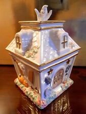LENOX HALLOWEEN HAUNTED HOUSE COVERED CANDY COOKIE DISH JAR NEW IN BOX