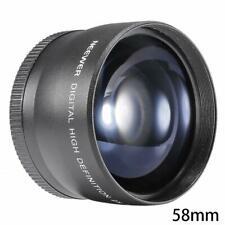 Magnification Teleconverter Telephoto Lens For Canon DSLR Fast Camera Nikon S9H6