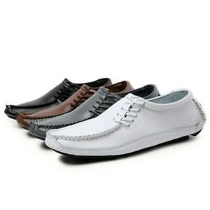Men Dress Formal Shoes Oxford Leather Brogue Business Shoes Driving Loafers Chic