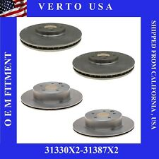 Front & Rear Brake Rotors For Nissan Maxima 2009-2010-2011-2012-2013 to 2018