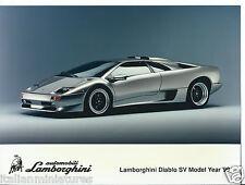 LAMBORGHINI DIABLO SV MODELLO ANNO 1999 ORIGINALE GRANDE fotografia vista frontale