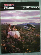GMC Truck S-15 Jimmy brochure 1986