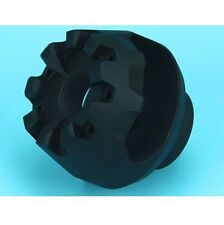 G&P Airsoft Toy Mushroom Flash hider Black (14mm CW) for Marui M Series FLH009BK