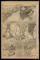 Southern United States harbors 7 small maps 1861 Harper's Civil War Print