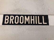 "Aberdeen 272 Scotland Vintage Linen Bus Blind 30""- Broomhill"