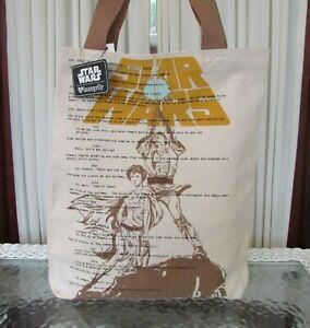 Star Wars Loungefly Luke Leia Canvas Tote Bag Heart Logo NWT