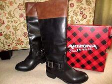 NWT! Ladies ARIZONA BOOTS DYLAN Size 7M BLACK/COGNAC Retail $90. New in Box