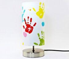 Hand Print Lamp Nursery Night Light lampshade Boys Girls Bedside Table Bedroom
