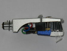 Silver Headshell + Blue  Stereo Moving Magnetic Cartridge + Stylus Assembly