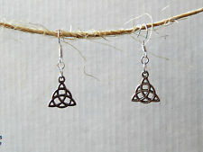 Silver Triskelion Celtic Design Earrings by Slave Violet Jewelry Free Shipping