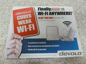 devolo dLAN Powerline 500 Wi-Fi Starter Kit twin pack, speeds up to 500 Mbps
