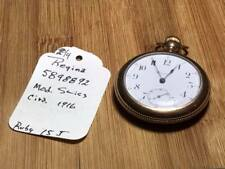 Antique Regina 5898892 Gold Filled 15 Jewel Swiss Made Pocket Watch