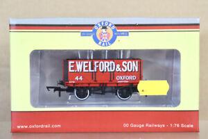 OXFORD RAIL OR76MW7003 E WELFORD & SON Oxford 7 PLANK WAGON 44 MINT BOXED nz