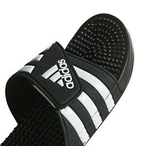 Mens Adidas Adissage Black Slides Shower Sandal Athletic Sport F35580 Size 10-11