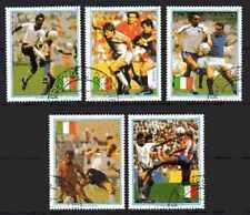 Football Paraguay (28) série complète 5 timbres oblitérés