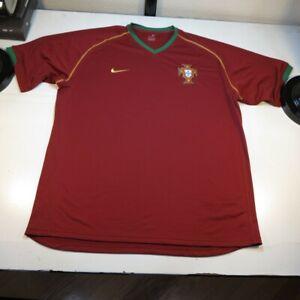NIKE PORTUGAL FOOTBALL FEDERATION FC PORTUGAL NATIONAL SOCCER JERSEY SHIRT XL