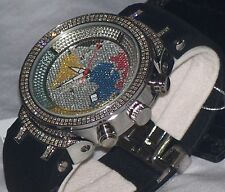 New Authentic Mens JOJO Joe Rodeo master jjm6  2.20ct.apx.242pcs.Diamonds watch.