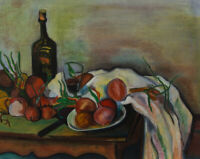 20th Century Chalk Drawing - Autumnal Harvest Still Life