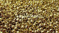 100 Cuentas Pony 9x6mm Cromo Oro Metálico Forma de Barril-Compre 3 para 2