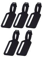 5er Set Kofferanhänger schwarz | Gepäckanhänger | Kofferschild | Anhänger Koffer