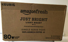 "AmazonFresh Just Bright Light Roast 80 Ct. K-Cup Pods ""Read"""