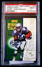 1998 Ahman Green, Playoff Contenders, Rookie, Auto, Free Ship PSA 9